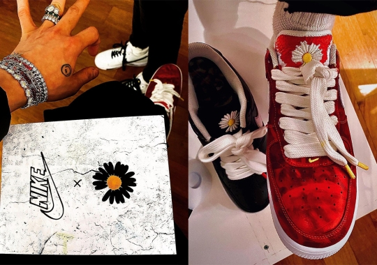 G-Dragon Reveals A PEACEMINUSONE x Nike Air Force 1 Covered In Red