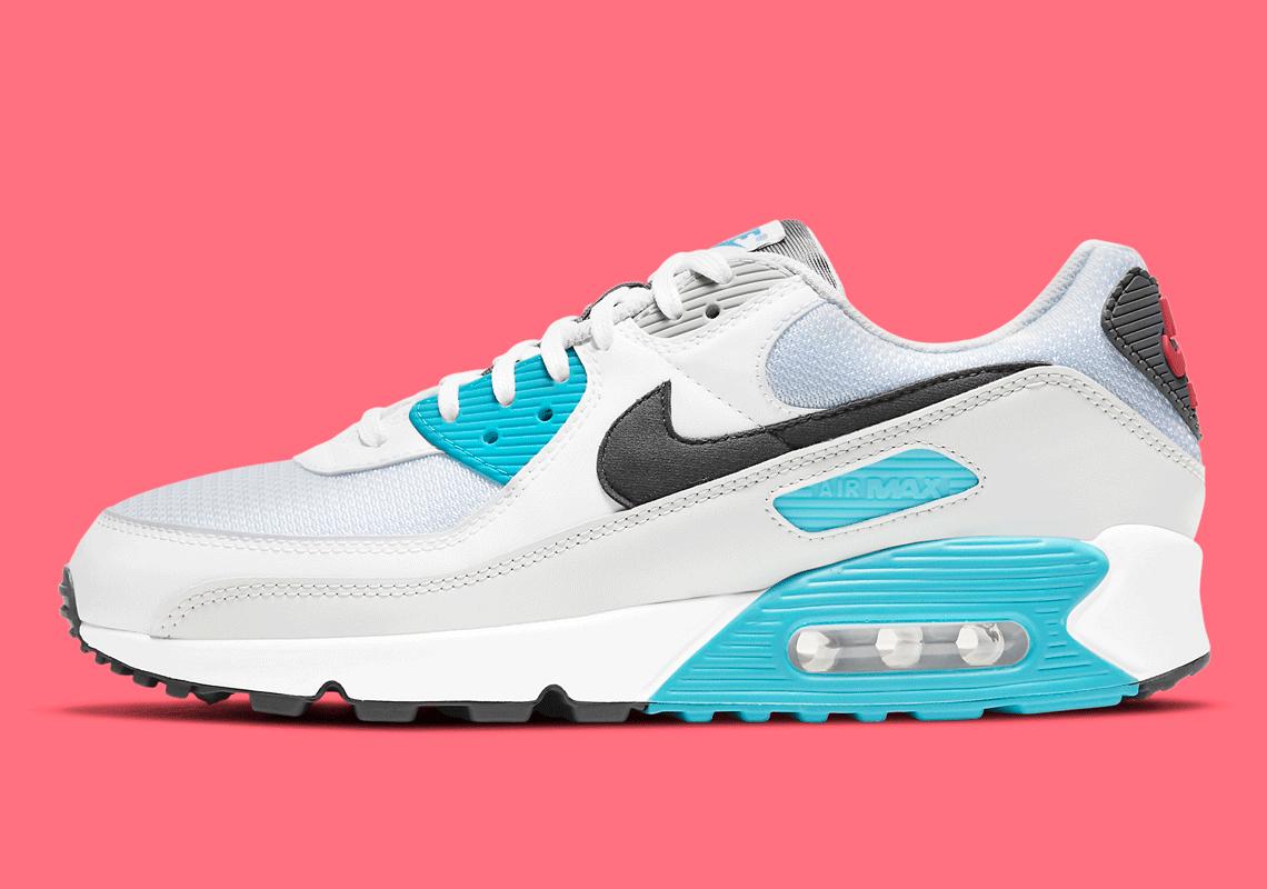 Nike Air Max 90 Iron Grey Chlorine Blue CV8839-100 | SneakerNews.com