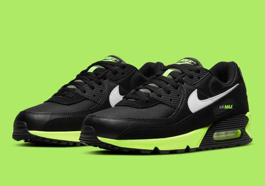 Nike Adds Hot Lime To The Air Max 90 With Black Uppers
