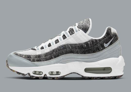 The Nike Air Max 95 Crater Surfaces In A Simple Grey And White Colorway