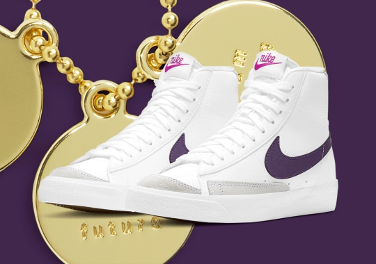"The Kid's Nike Blazer Mid '77 ""Eggplant"" Arrives With Three Inspirational Charms"