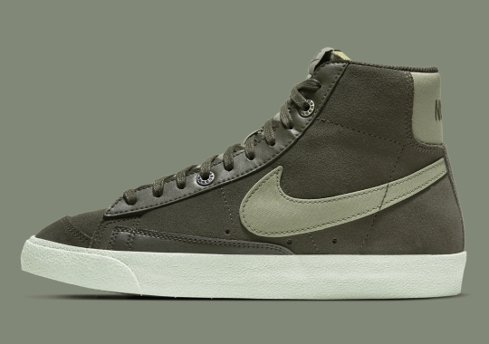 Olive Green Hues Cover The Latest Nike Blazer Mid '77