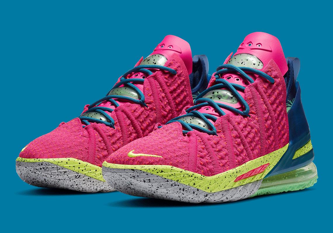 Nike Lebron 18 La By Night Prime Pink Db8148 600 Sneakernews Com