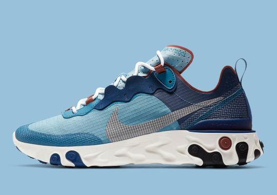 The Nike React Element 55 Dresses Up For The Fall In Coastal Blue