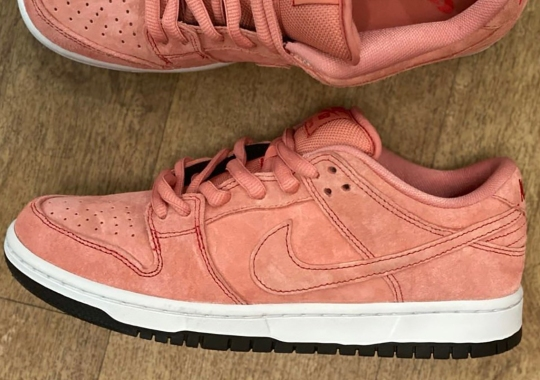 """2021's Nike SB Dunk Low """"Pink Pig"""" Is Inspired By A Porsche Le Mans Racecar"""