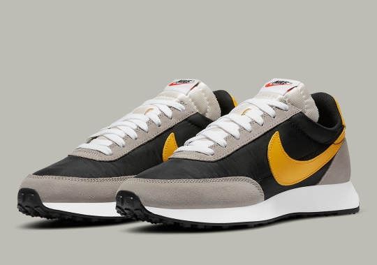 The Nike Tailwind 79 Arrives In Black, University Gold, And College Grey