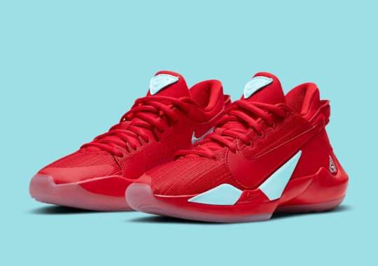 "This Kid's-Exclusive Nike Zoom Freak 2 Arrives In ""University Red"" And ""Glacier Ice"""