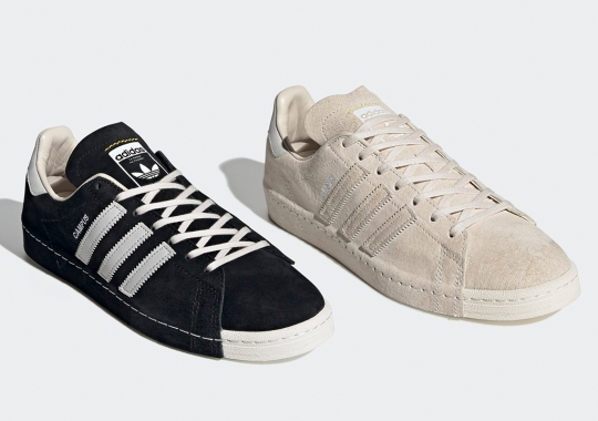 RECOUTURE's adidas Campus 80s Are Coming Soon In Black And White