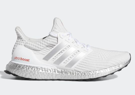 adidas Paints The Ultra Boost Soles Silver For Futurist Colorway