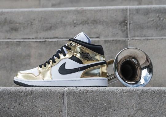 "The Air Jordan 1 Mid ""Metallic Gold"" Releases Tomorrow"