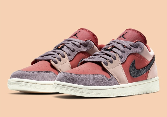 "The Air Jordan 1 Low ""Canyon Rust"" Boasts Multi-Colored Suede Uppers"