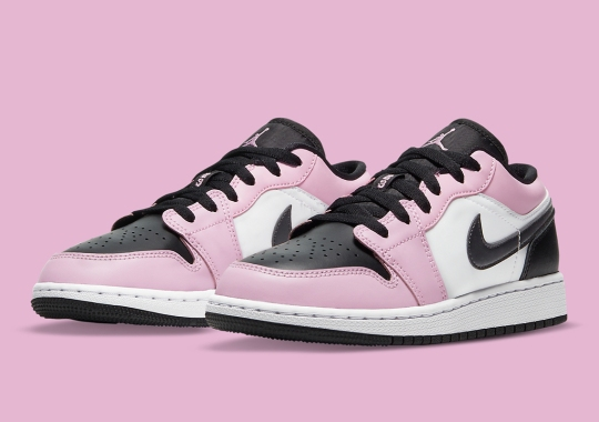 """A Girl's-Exclusive Air Jordan 1 Low """"Light Arctic Pink"""" Is Here"""