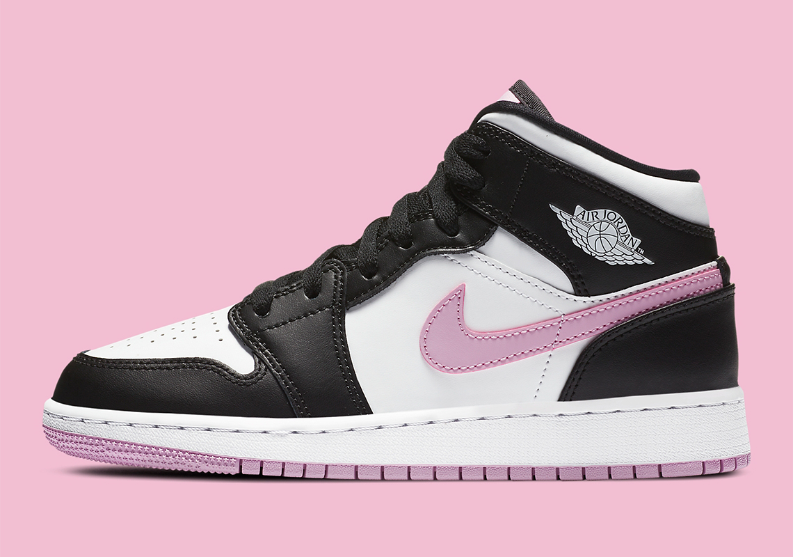 aj1 pink and black