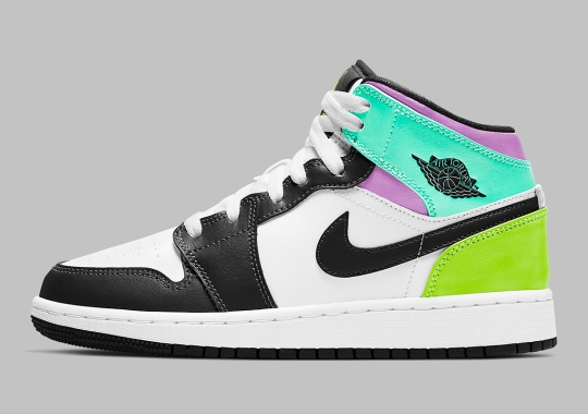 Pastel Multi-Colored Uppers Appear On The Air Jordan 1 Mid GS