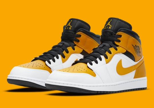 "Another ""University Gold"" Mix Appears On The Air Jordan 1 Mid"