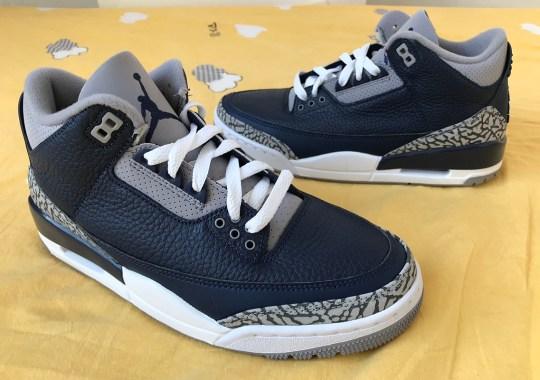 "First Look At The Air Jordan 3 Retro ""Georgetown"""