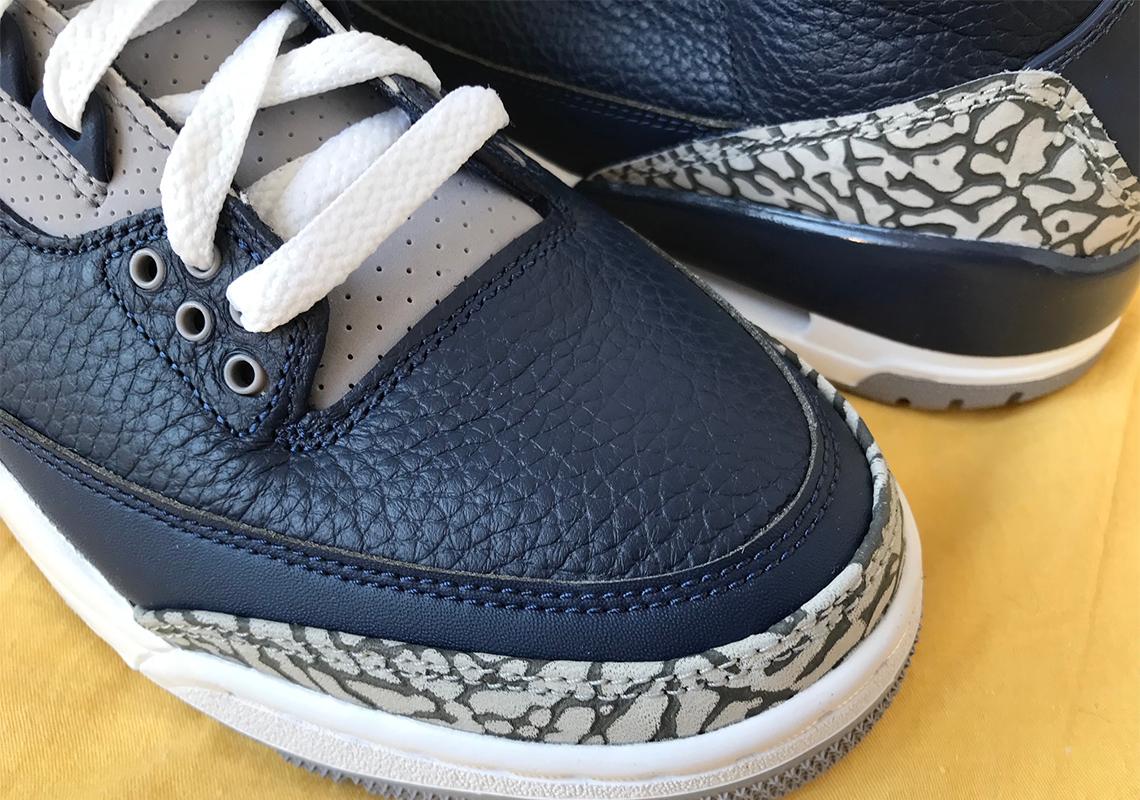 Nike Air Jordan 4 Georgetown Navy Cement Grey