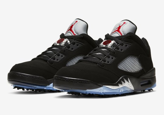 "Air Jordan 5 Golf Releasing In Original ""Black/Metallic"" Colorway"