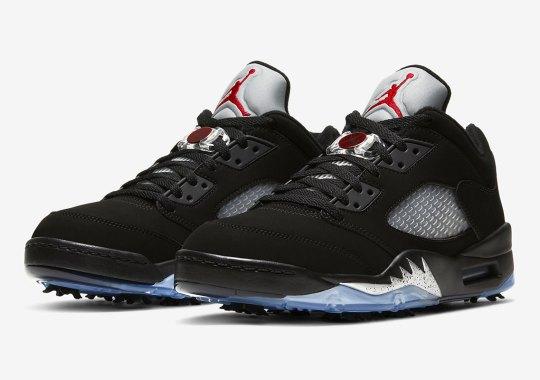 """Air Jordan 5 Golf Releasing In Original """"Black/Metallic"""" Colorway"""