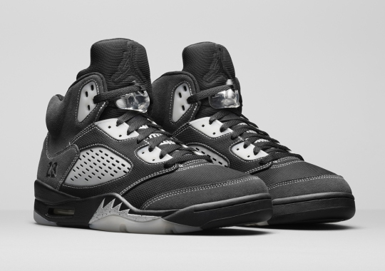 The Air Jordan 5 Brings Its Iconic Reflective Surface To Other Areas