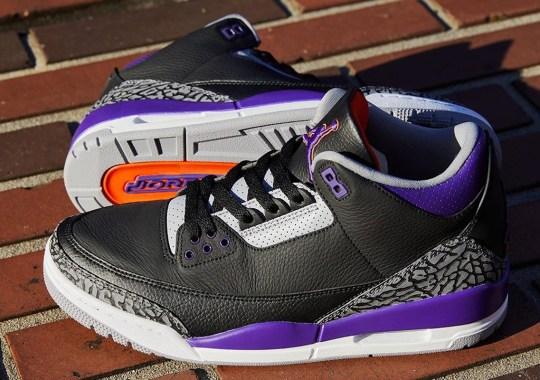 "Where To Buy The Air Jordan 3 ""Court Purple"""