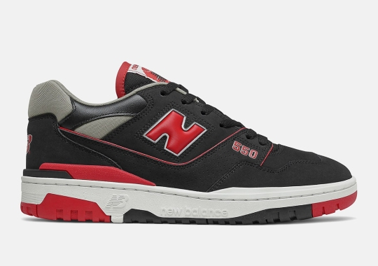 The New Balance 550 Gets A Classic Black/Red Look