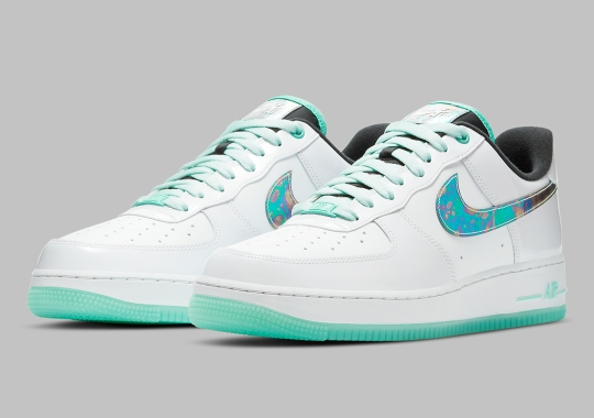 "Nike Air Force 1 Low ""Abalone"" Features Iridescent Swooshes"