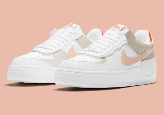 The Nike Air Force 1 Shadow Gets A Hint of Crimson Tint