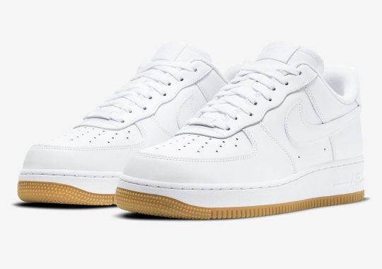 Nike Keeps It Clean And Classic With White/Gum Air Force 1 Lows