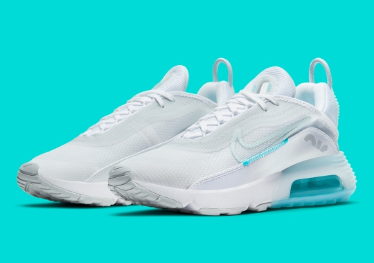 Hits Of Aqua Blue Appear On This Angelic Nike Air Max 2090