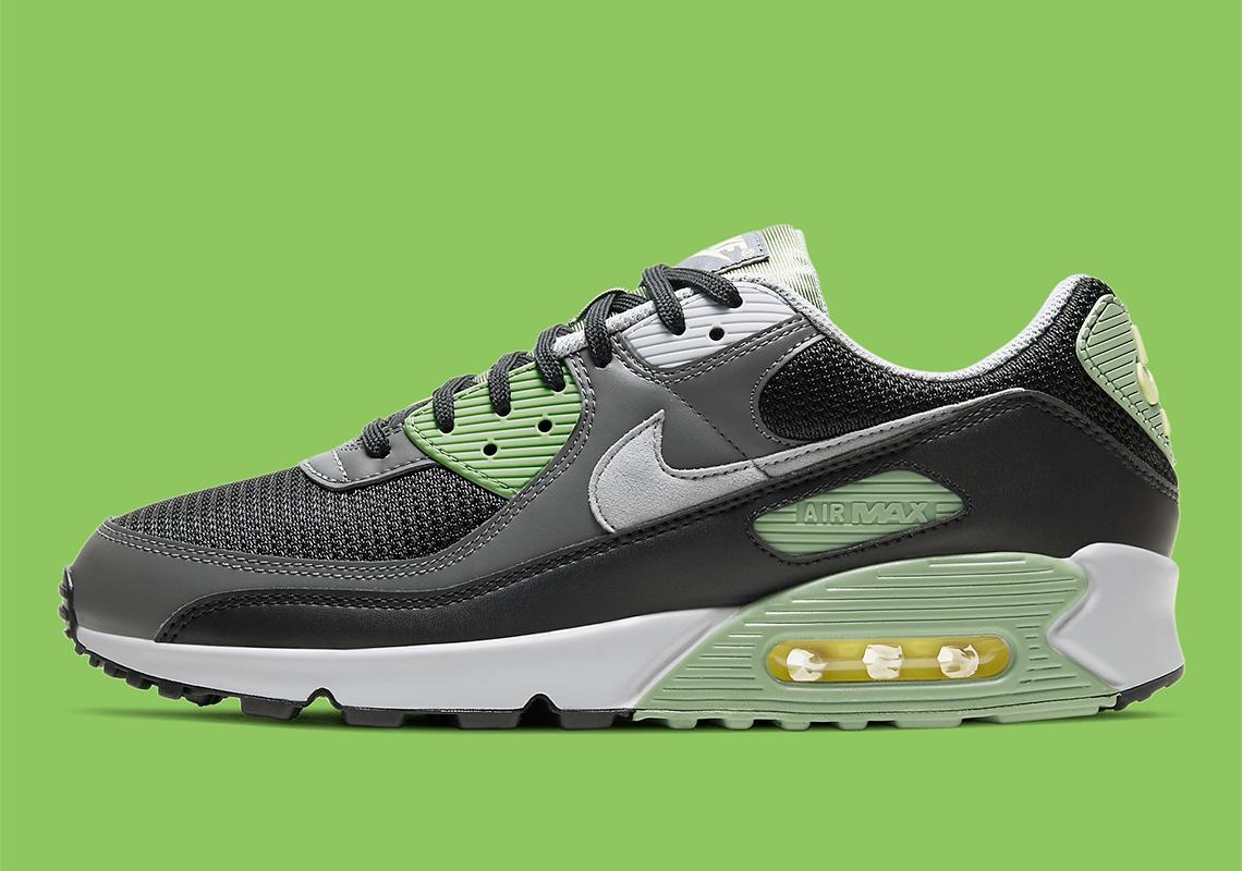 Sortie Nike Air Max 90 Oil Green Grey CV8839-300 - Crumpe