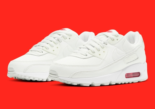 Sail And Red Cover This Nike Air Max 90
