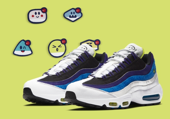 """Nike's """"Kaomoji"""" Pack Includes Adhesive Patches To Stick On Your Air Max 95"""