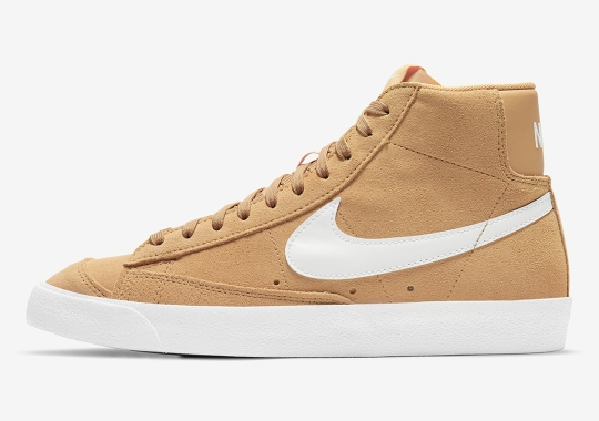 Golden Wheat Suede Covers This Upcoming Nike Blazer Mid '77