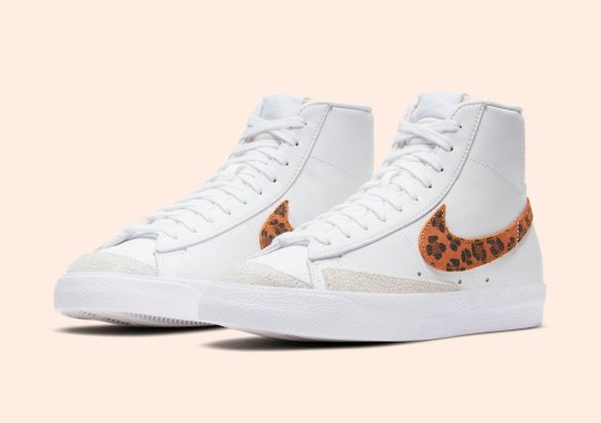 Classic Leopard Prints Appear On The Nike Blazer Mid '77 For Women