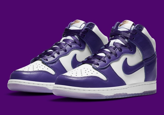 """The Nike Dunk High SP """"Varsity Purple"""" Features Translucent Soles"""