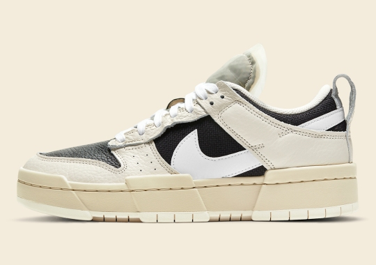 Pale Ivory And Black Cover This Nike Dunk Low Disrupt
