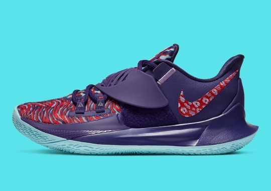 """Nike Kyrie Low 3 """"New Orchid"""" Blends A Mix Of Florals And Animal Patterns"""