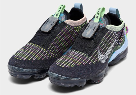 Multi-Color And Black Flyknit Clash On This Upcoming Nike Vapormax 2020