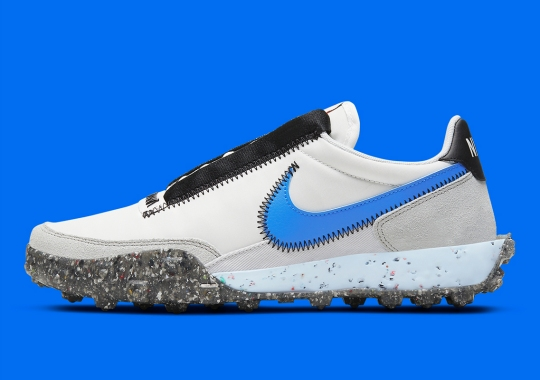 """A Nike Waffle Racer Crater For Women Just Released With """"Photo Blue"""" Swooshes"""