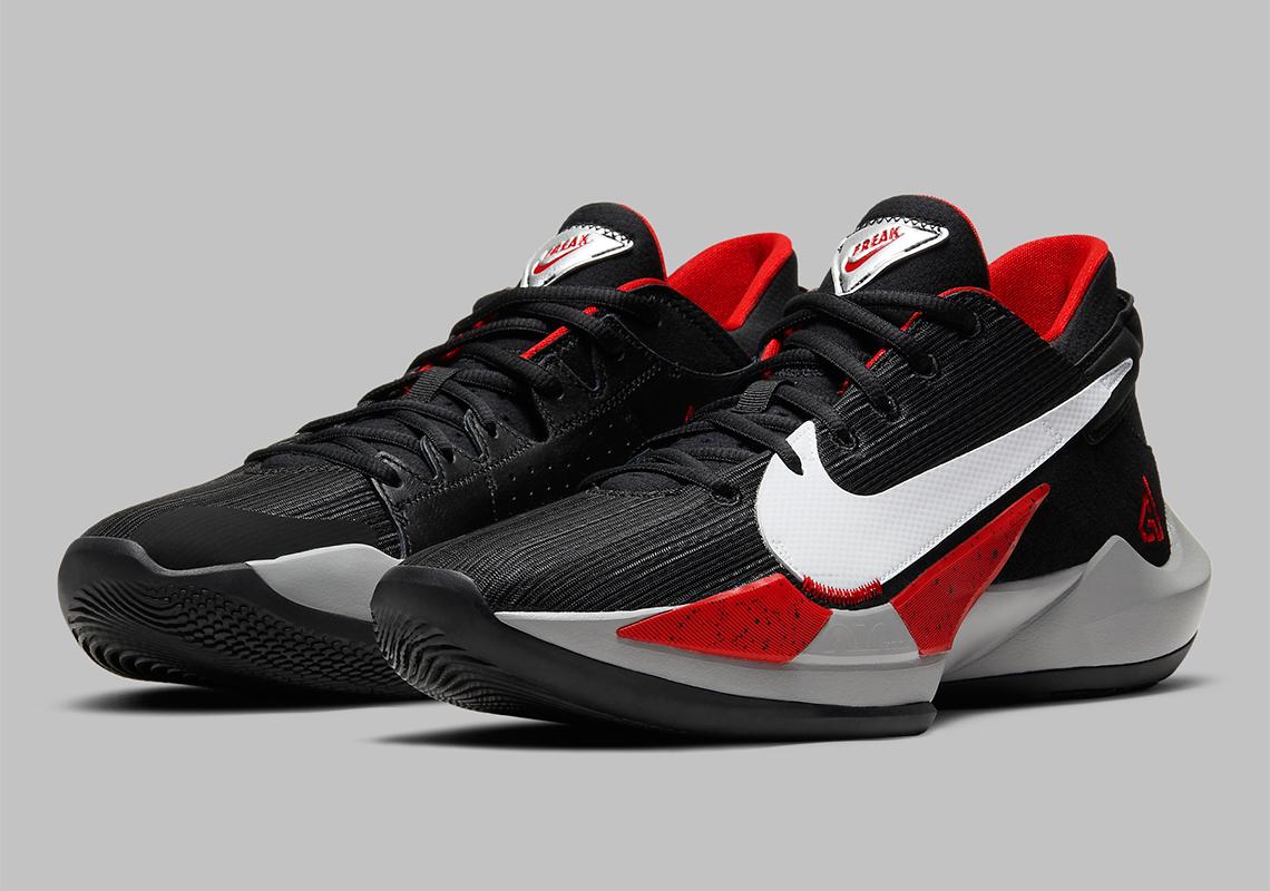 Nike Zoom Freak 2 Black White University Red Ck5424 003 Sneakernews Com