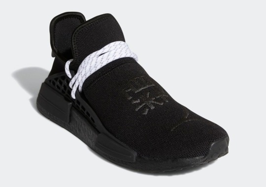Pharrell x adidas NMD Hu In Triple Black Off-Set By White Rope Laces