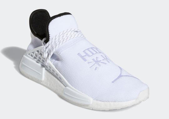 A Triple-White Pharrell x adidas NMD Hu Is Coming Soon