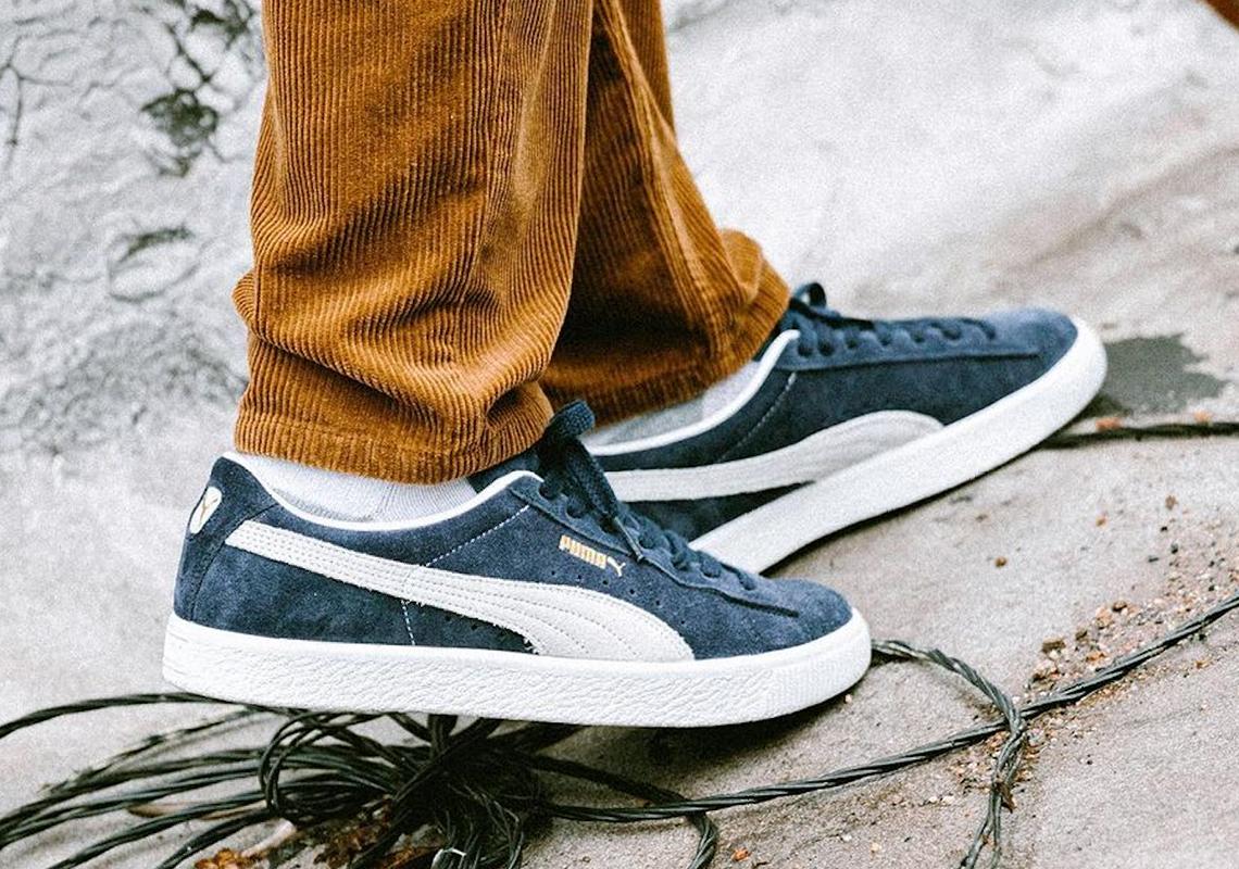PUMA Suede Vintage Black Red Navy | SneakerNews.com
