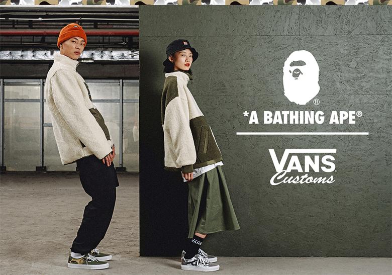 A BATHING APE Vans Customs Release Info | SneakerNews.com