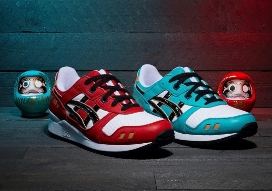 This ASICS GEL-Lyte III Set Is Inspired By Traditional Daruma Dolls