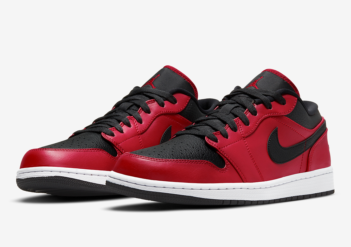 Air Jordan 1 Low Black Red 553558-605 Release Info | SneakerNews.com