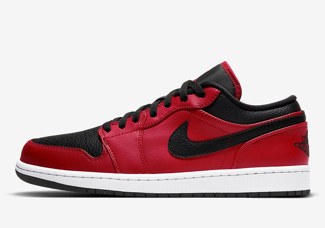 Air Jordan 1 Low Black Red 553558-605 Release Info   SneakerNews.com