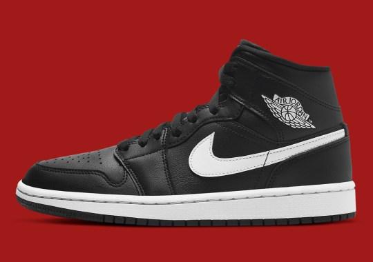 """The Air Jordan 1 Mid Appears In Simple """"Black/White"""" Reminiscent Of """"Premium Essentials"""""""