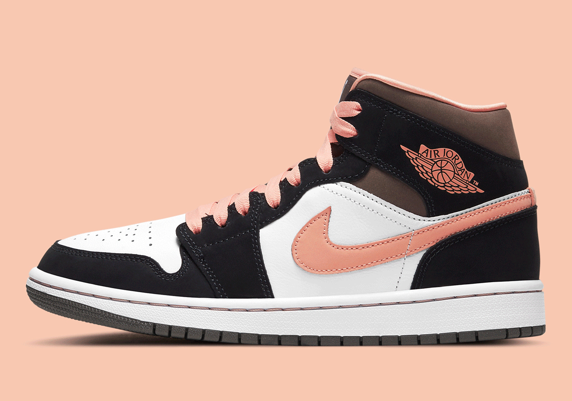 Air Jordan 1 Mid White Black Pink DH0210-100   SneakerNews.com